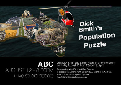 Post image for Dick Smith's Population Puzzle