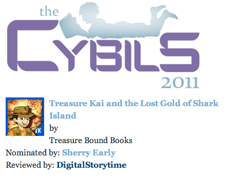 Treasure Kai Cybils Award Nomination iPad Books